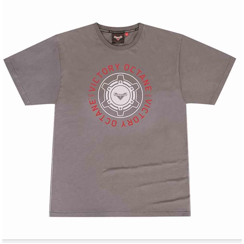 Victory Motorcycle New OEM Men's Grey Octane Tee Shirt, X-Large, 286797909