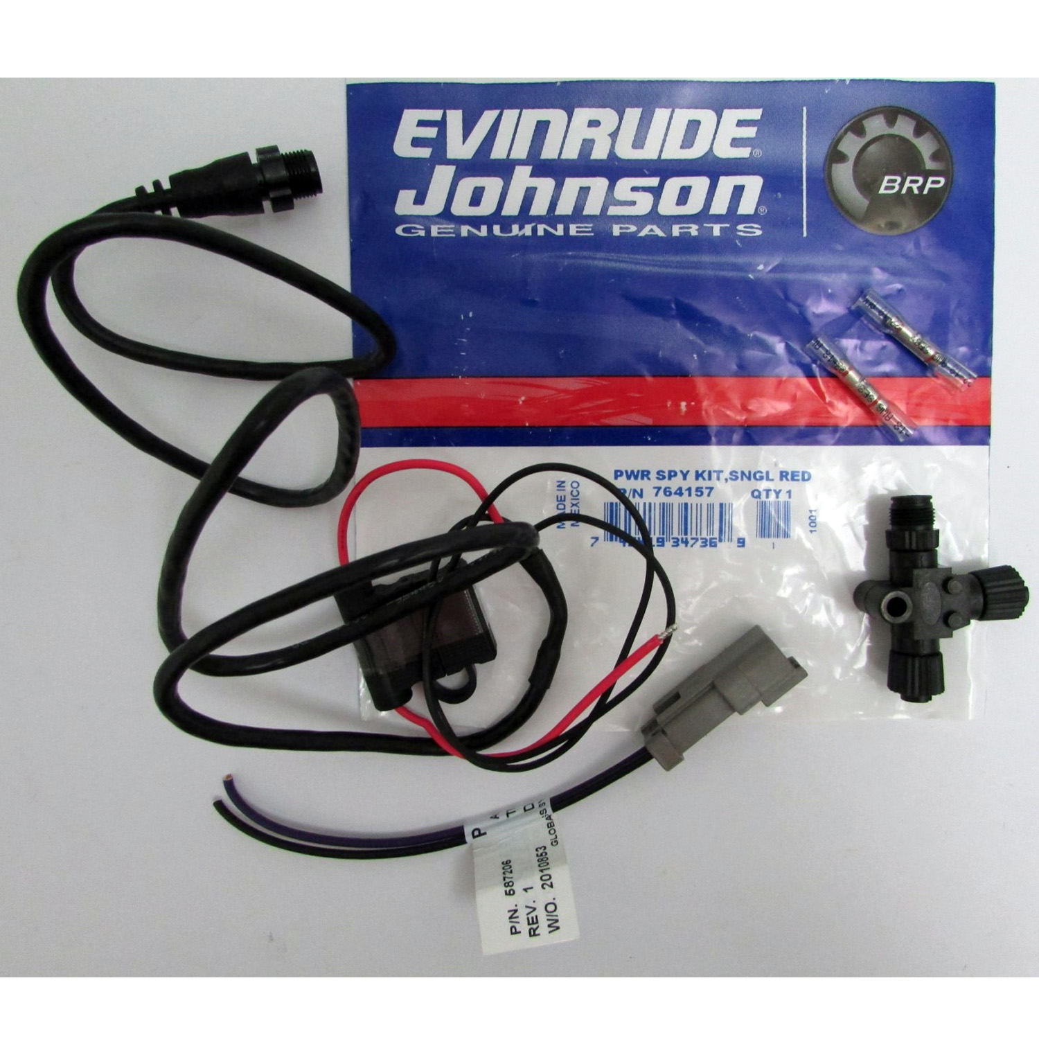 Johnson/Evinrude New OEM I-Command Power Supply Cable Kit 764157, 0764157