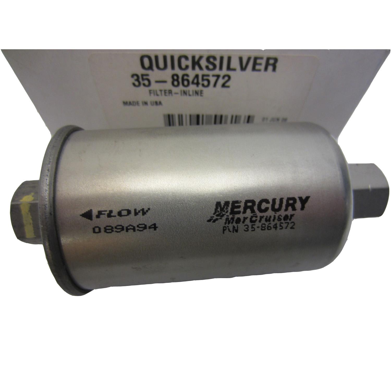 MerCruiser New OEM In-Line Fuel Filter 35-864572, 35-864572T,