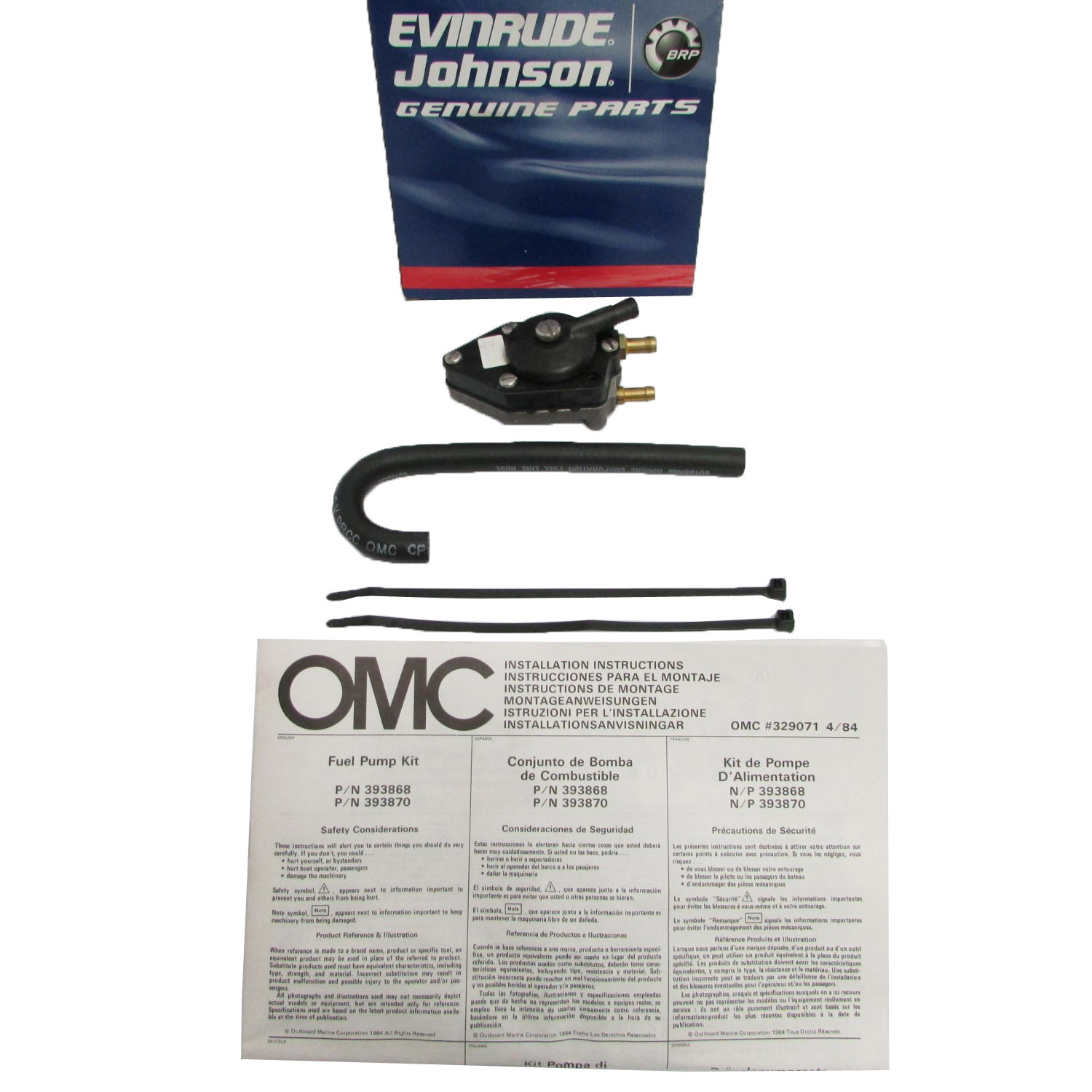 Omc Boat Inboard Intake And Fuel Systems Ebay 1978 Wiring Diagram Johnson Evinrude Pump Kit 0393870 393870