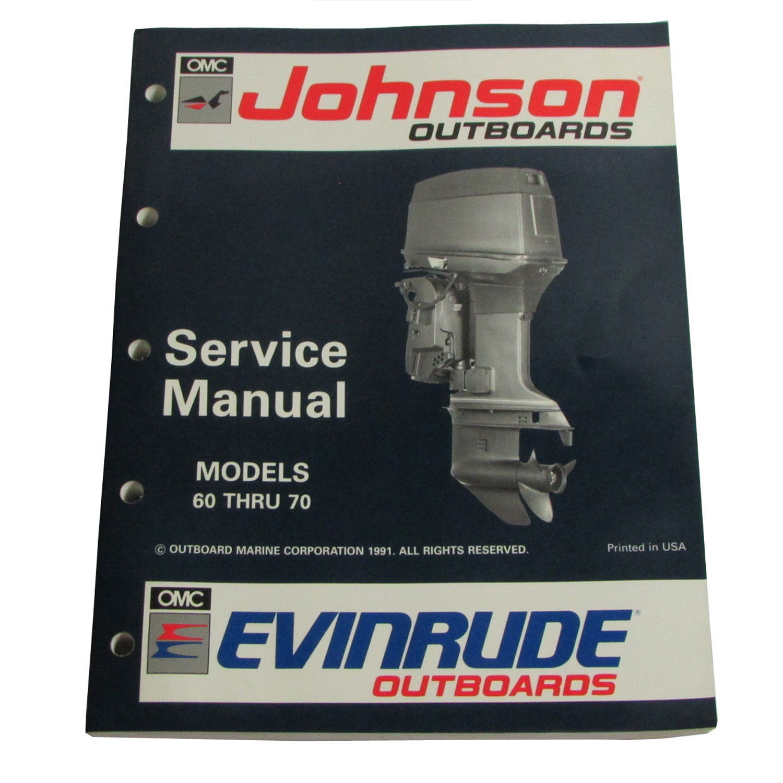 Image is loading OMC-Johnson-Evinrude-OEM-Service-Manual-60-Thru-