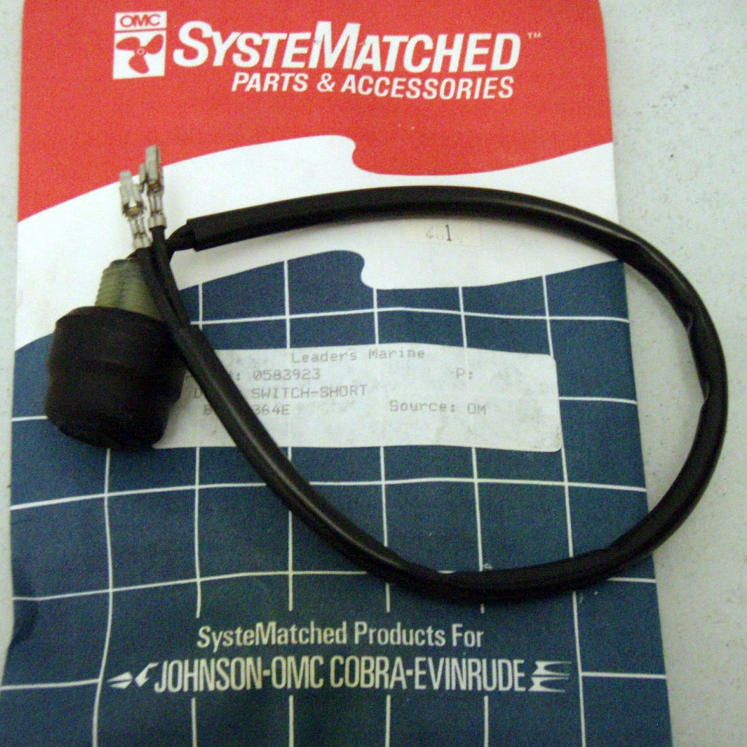 Omc Wiring Harness Boat Parts Ebay Electrical Diagrams Johnson Evinrude Tiller Handle Stop Switch 0583923 Merc