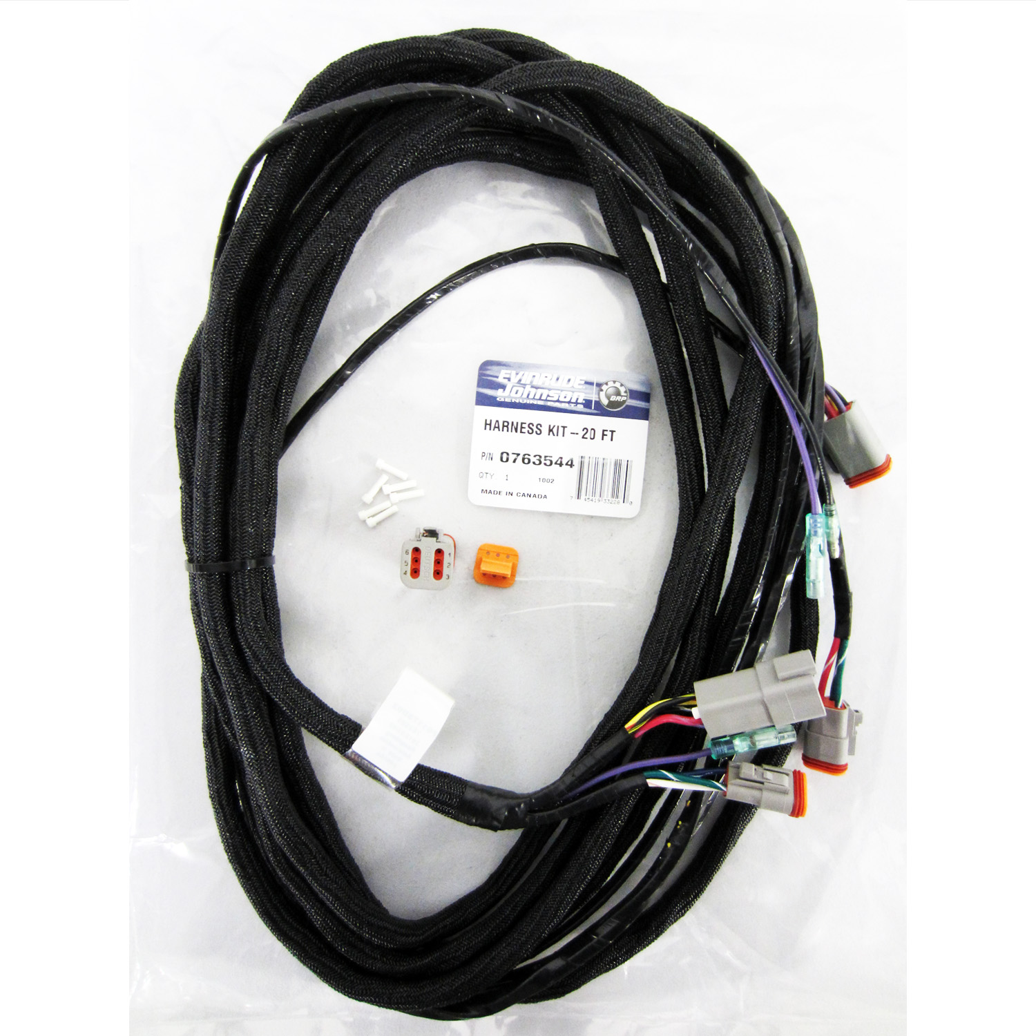 Evinrude Johnson 0763544 Harness Kit 20 Ft Ebay Wire 20ft Main Electrical Ignition Cable 763544