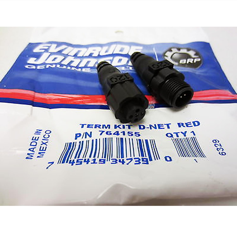 Johnson/Evinrude New OEM I-Command Terminator Kit D-Net Red 0764155, 764155