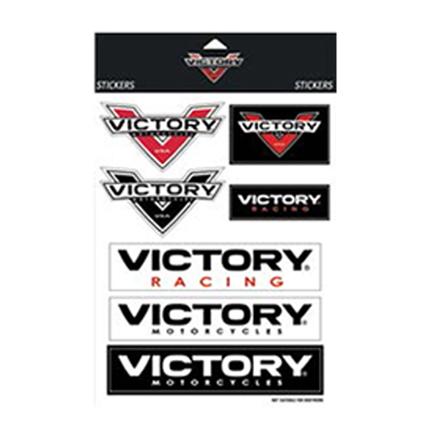 Victory Motorcycle New OEM Assorted V Logo Decal Sticker Set, 2864429