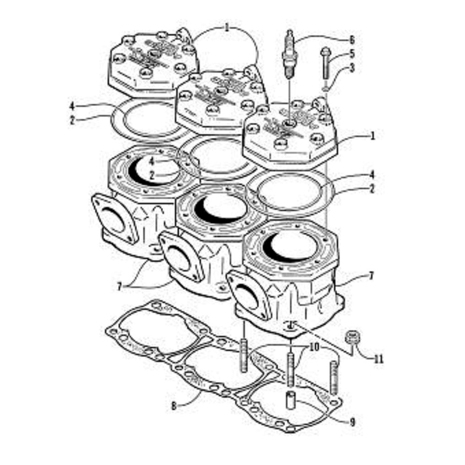 Image is loading Arctic-Cat-New-OEM-Cylinder-Base-Gasket-ZRT-