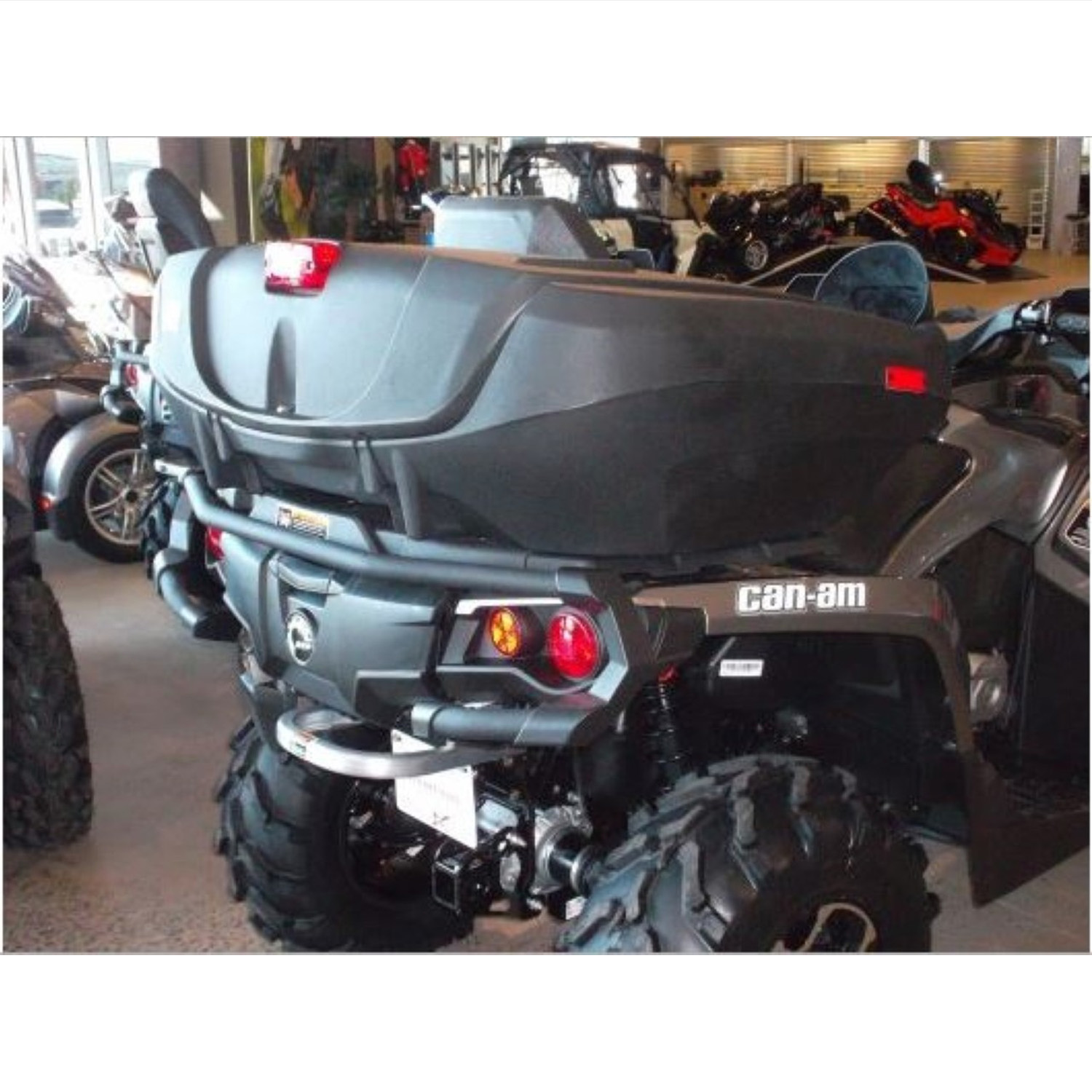 Wes Industries New Rear Cargo Storage Box Seat Can Am Atv