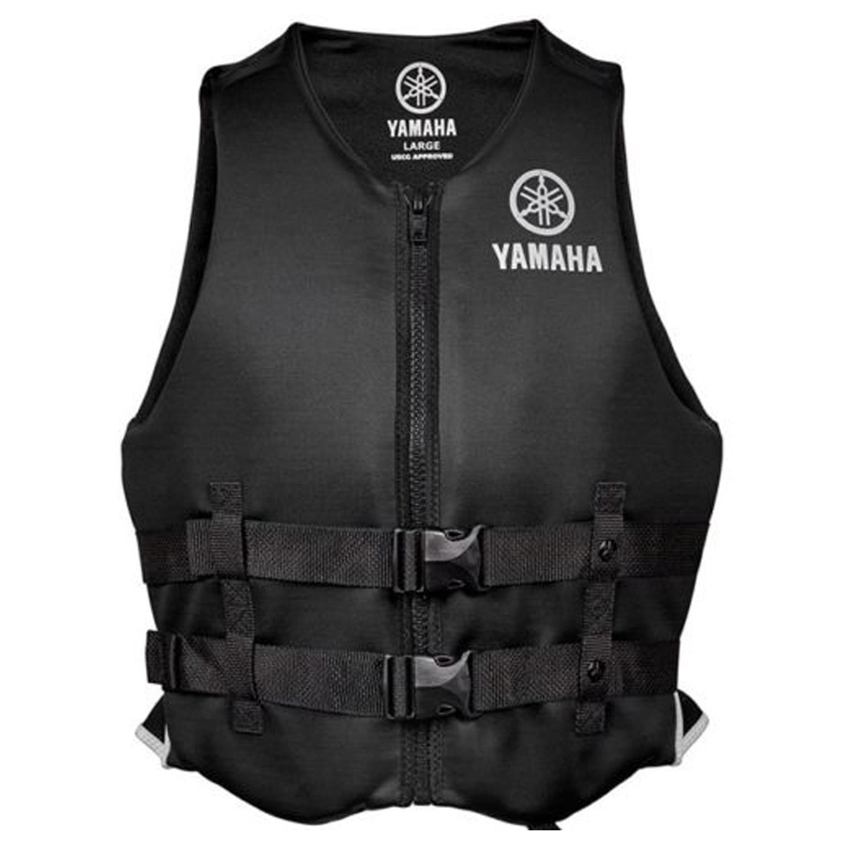 Yamaha Marine New OEM Unisex PFD Neoprene 2 Buckle Life Jacket, Medium, Black