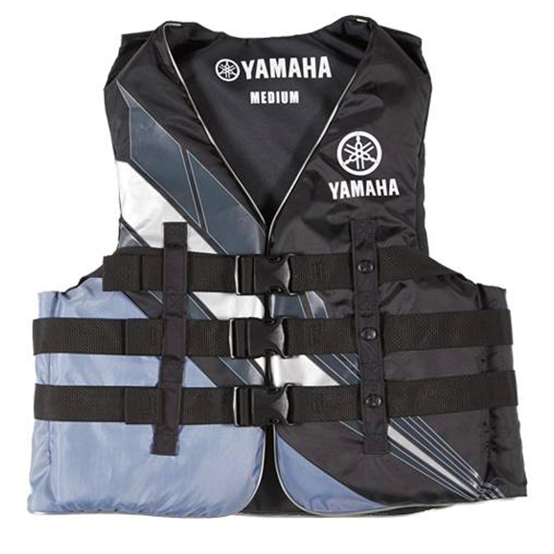 Yamaha Marine New OEM Unisex PFD Nylon 3 Buckle Life Jacket, 3XL, Black