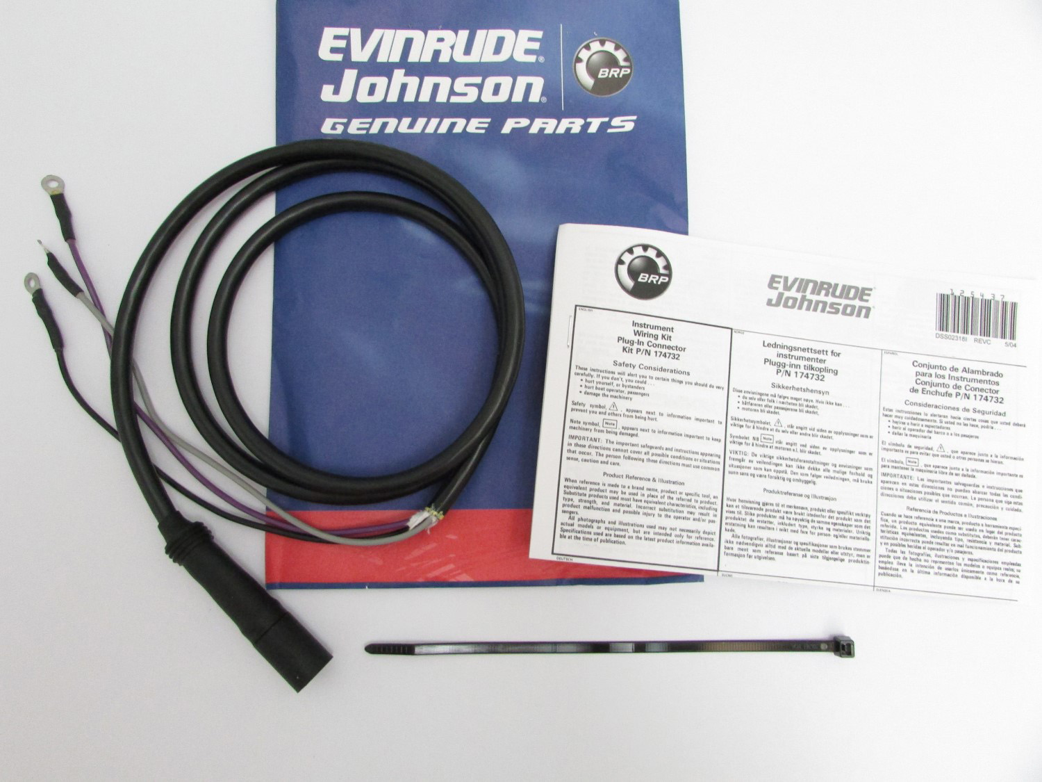 Evinrude Johnson Omc New Oem Instrument Tach Wiring Harness 174732 John Deere H Image Is Loading